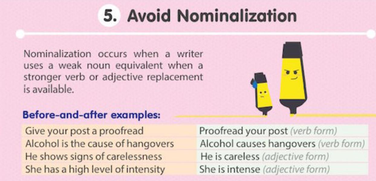 Avoid Nominalization Mastertuition
